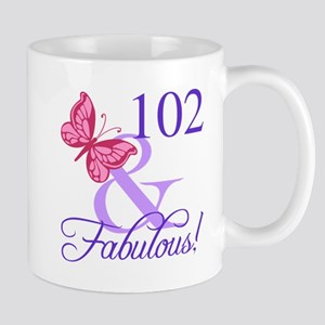 Fabulous 102th Birthday Mugs